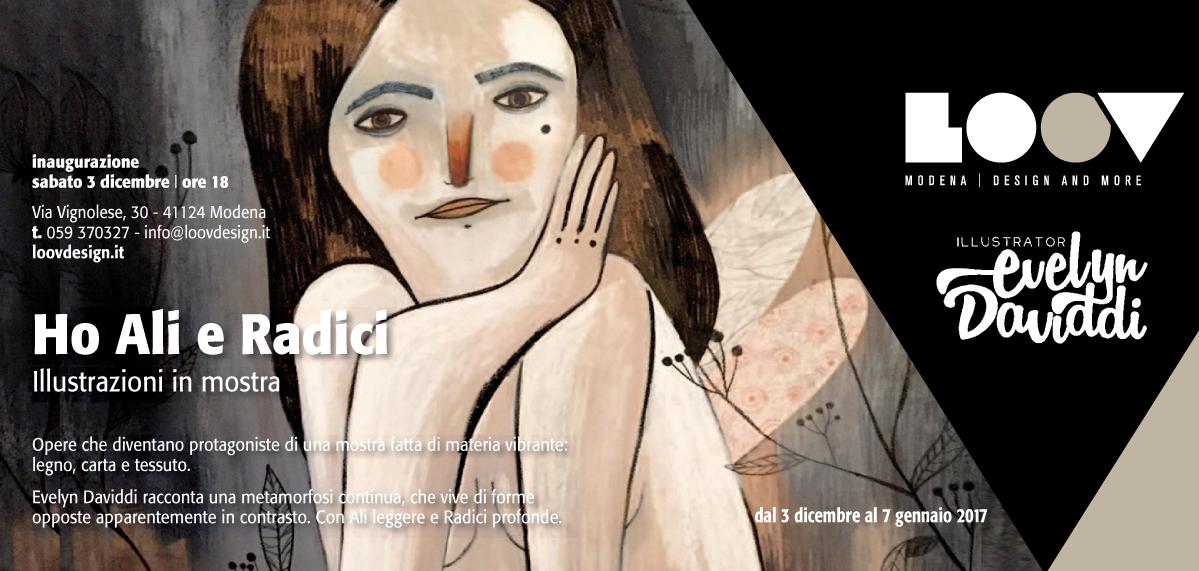 Loov design, Mmodena-mostra-evelyn-daviddi-illustrator-invito